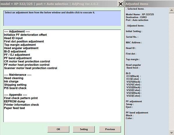 Adjustment program epson reset t21