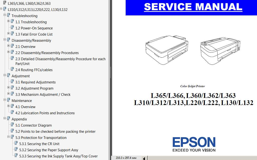 Epson l220 adjustment program