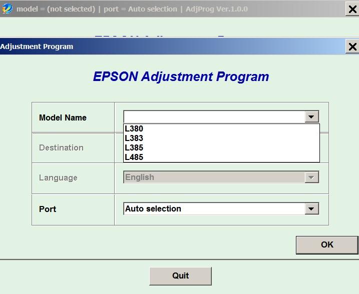 Epson L380, L383, L385, L485 (ECC) Ver 1 0 0 Service Program