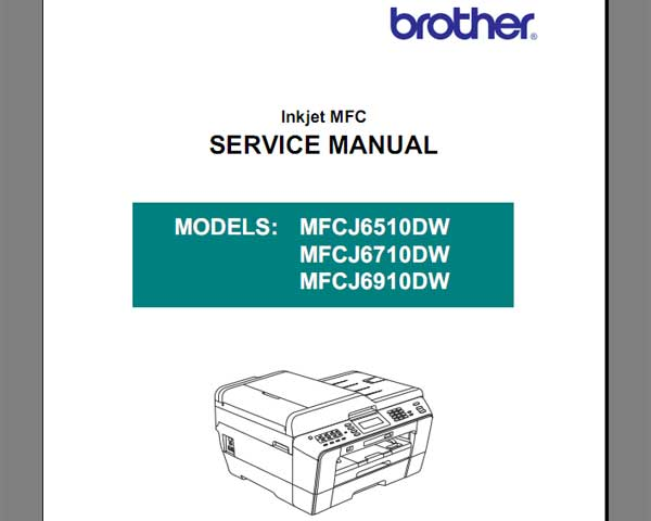 Brother MFCJ6510DW, MFCJ6710DW, MFCJ6910DW  Service Manual