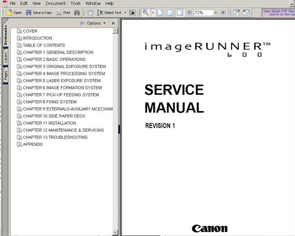 CANON iR600 Service Manual