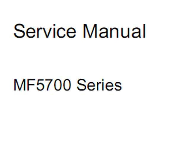 CANON MF5700 Series Service Manual