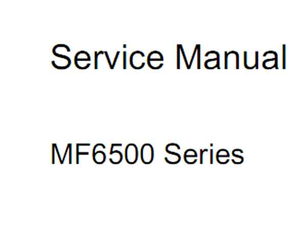CANON MF6500 Series Service Manual