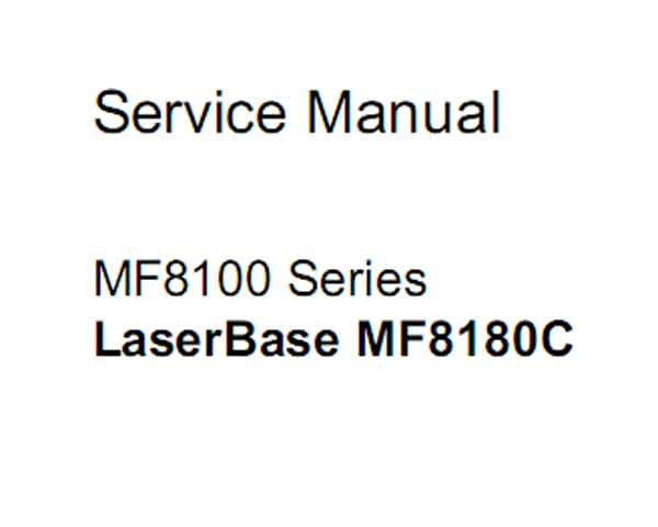 CANON MF8100 Series Service Manual