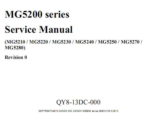 CANON MG5210, MG5220, MG5230,