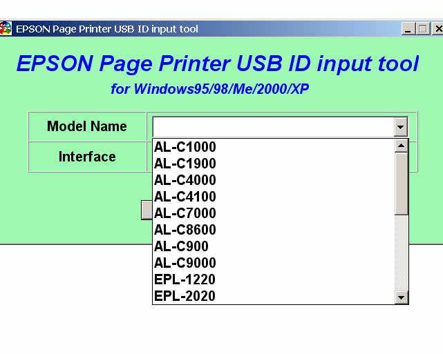 Epson AL-C, EPL, EPL-N Series Printers<br> Multimodel Service Program