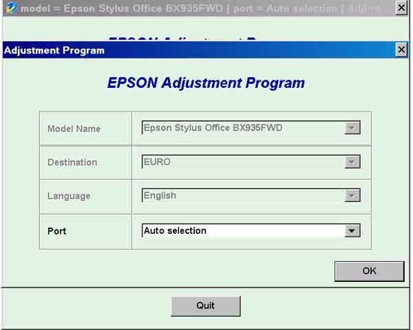 Epson <b>BX935FWD</b> (EURO) Ver.1.0.0 Service Adjustment Program  <font color=red>New!</font>
