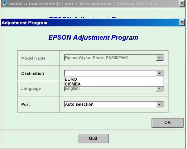 Epson xp800 adjustment program download