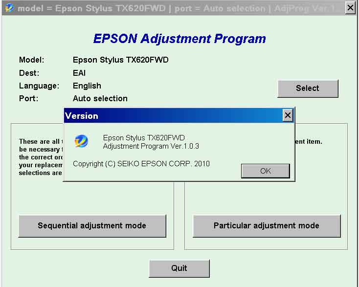 Epson <b>TX620FWD</b> (EAI) Ver.1.0.3 Service Adjustment Program  <font color=red>New!</font>