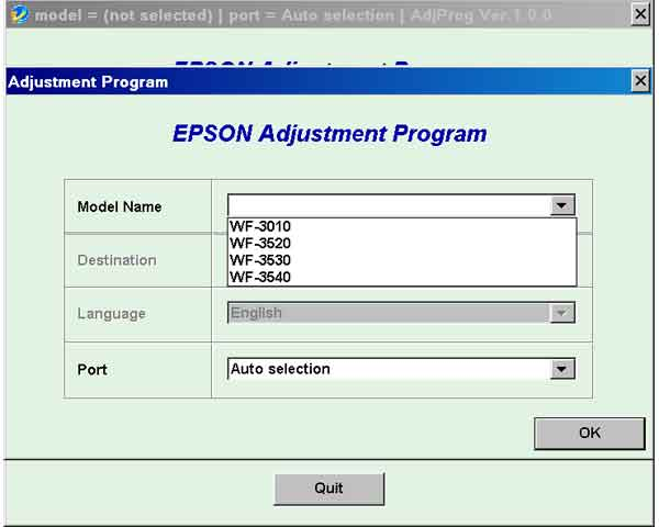 Epson <b>WorkForce WF-3010, WF-3520, WF-3530, WF-3540</b> (EURO, CISMEA) Ver.1.0.0 Service Adjustment Program  <font color=red>New!</font>