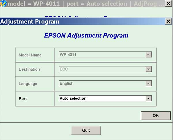 Epson <b>WorkForce WP-4011</b> (ECC China) Ver.1.0.4 Service Adjustment Program  <font color=red>New!</font>