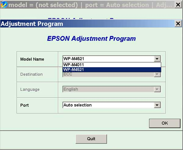 Epson <b>WorkForce WP-M4011, WP-M4521</b> (ECC China) Ver.1.0.4 Service Adjustment Program  <font color=red>New!</font>