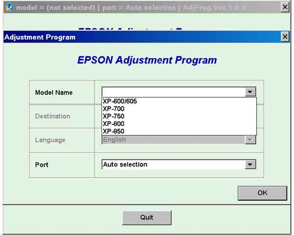 Epson <b>XP-600, XP-605, XP-700, XP-750, XP-800, XP-850  </b> (EURO, CISMEA, Belgium) Ver.1.0.3 Service Adjustment Program  <font color=red>New!</font>