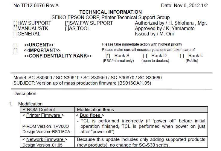 Epson Stylus SureColor SC-S30600, SC-S30610, SC-S30650, SC-S30670
