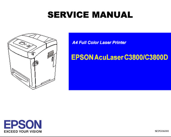 Epson AcuLaser C3800, C3800D (ALC3800) Printer<br> Service Manual and Parts List
