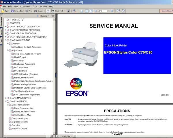Инструкция К Принтеру Epson C45