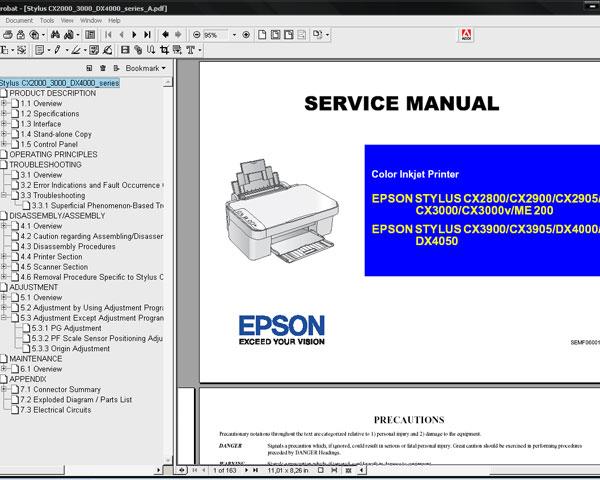 Инструкция Принтера Epson Cx3900