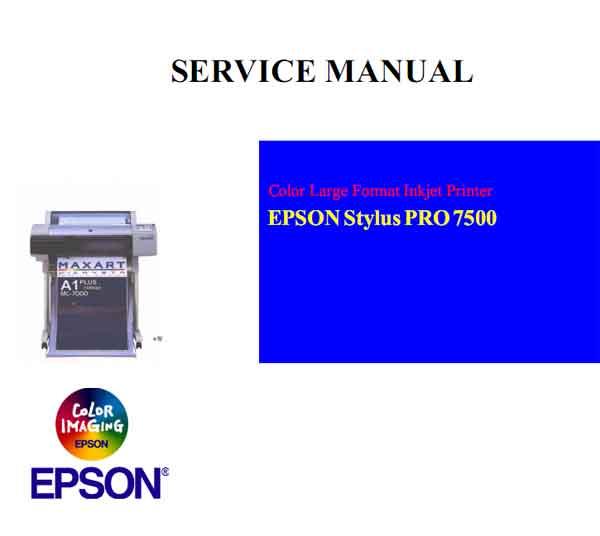Stylus Pro 7500 Printer Service Manual
