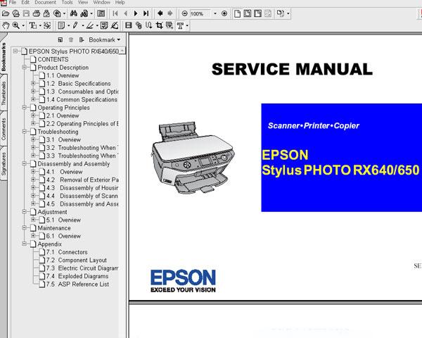 Epson RX640, RX650 printers