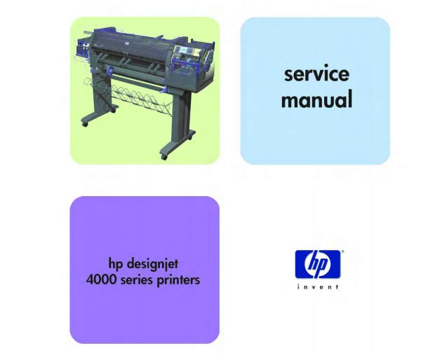 HP Designjet 4000 series Printers Service Manual and Parts List and Diagrams