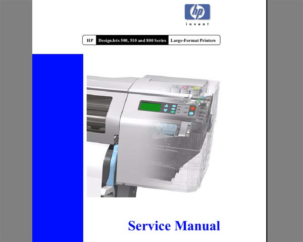service manual hp dj 9800