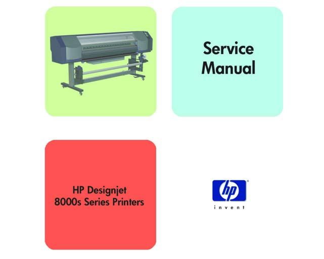 HP Designjet 8000s Printer Service Manual and Parts List and Diagrams