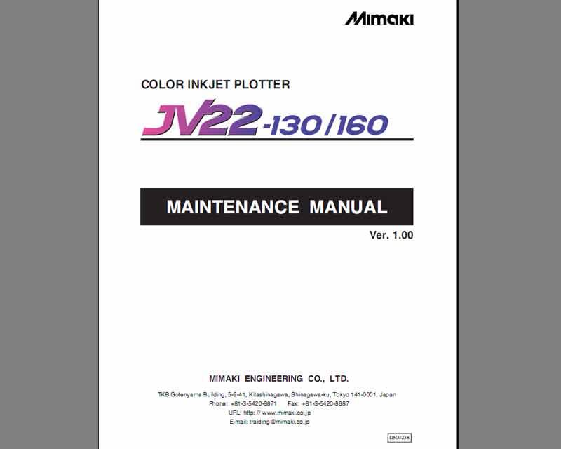 mimaki jv22 130 60 maintenace manual service manuals. Black Bedroom Furniture Sets. Home Design Ideas