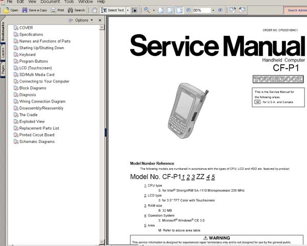 manual for panasonic service phone
