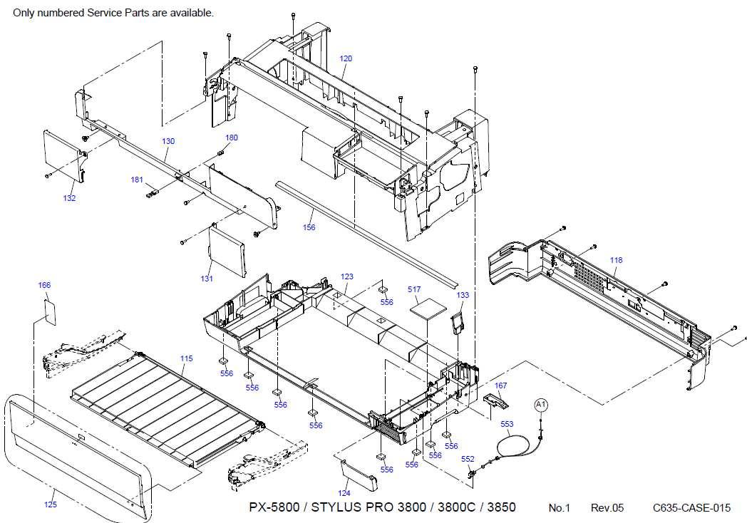 Epson Stylus Pro 3800, 3850 printers Parts List New