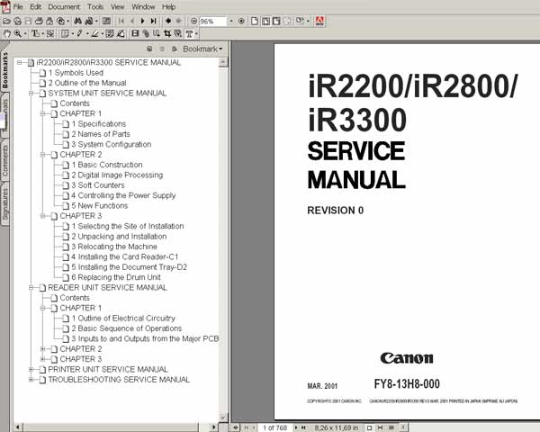 canon ir2200 ir2800 ir3300 full service manuals and. Black Bedroom Furniture Sets. Home Design Ideas