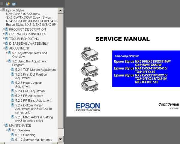 Adjustment program Epson me 340