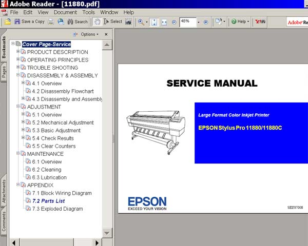 Epson Stylus Pro 4900, 4910 printers Service Manual, Block Wiring Diagram <font color=red>New!</font>
