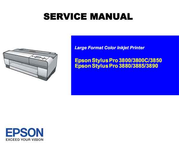 Pro 3800, 3850, 3880, 3885, 3890  plotters Service Manual, Circuit Diagrams and Parts List <font color=red>New!</font>