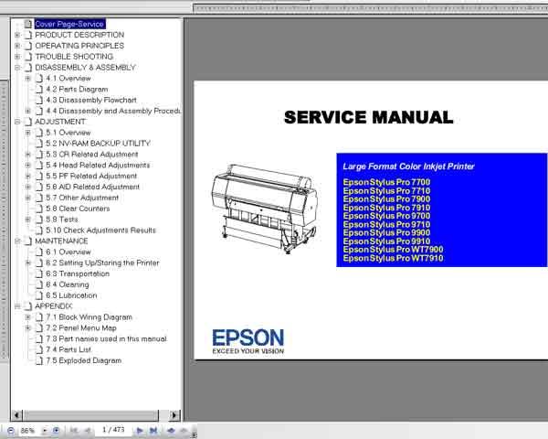 Epson Stylus Pro Pro 7700  7710  7900  7910  9700  9710