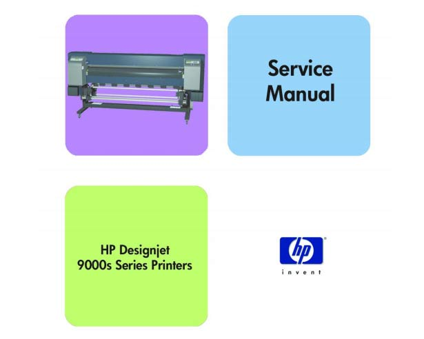 HP Designjet 9000s Printer Service Manual and Parts List and Diagrams