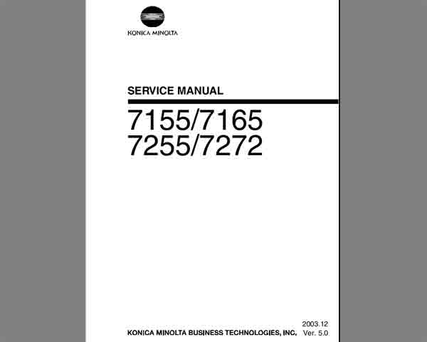 Konica Minolta 7155, 7165, 7255, 7272 Service Manual
