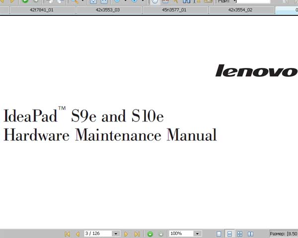 Lenovo  IdeaPad S9e and S10e Notebook <br>Hardware Maintenance Manual  (Service Manual)