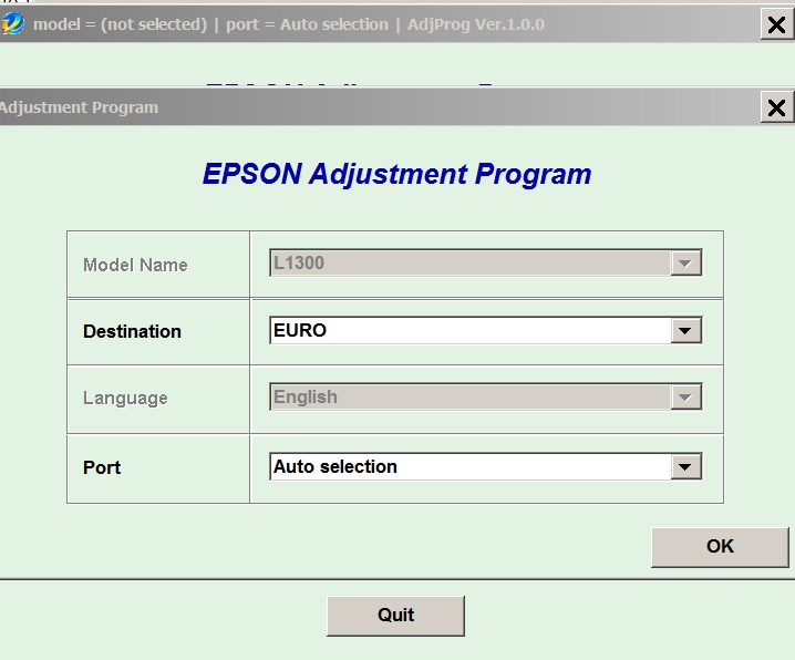 Epson <b>L1300</b> Adjustment Program unlimited full version  for ONE PC