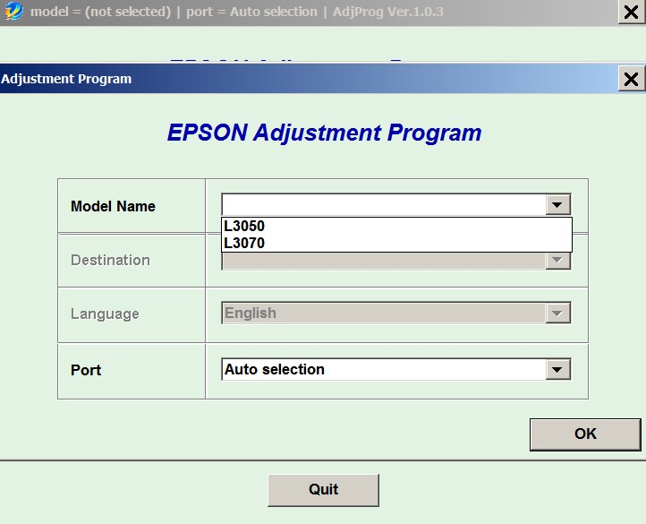 License for 1 PC for Epson <b>L3050, L3070</b> Adjustment Program Full Reset Version
