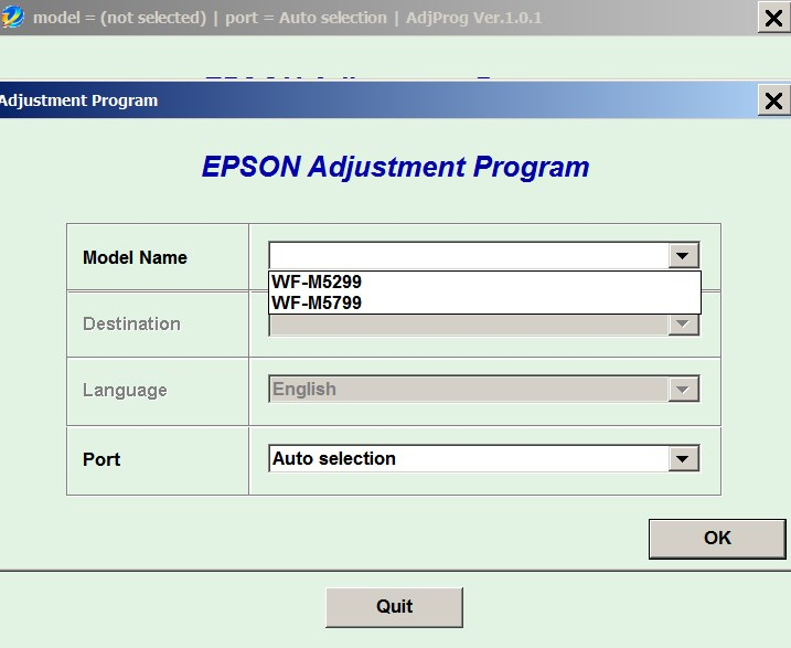 Epson <b>WorkForce WF-M5299, WF-M5799</b> (EURO) Ver.1.0.1 Service Adjustment Program  <font color=red>New!</font>
