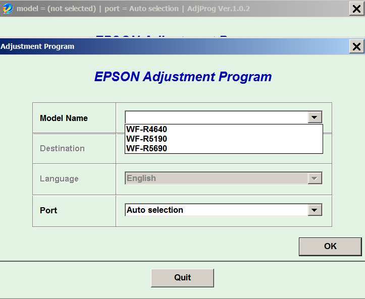 Epson <b>WorkForce WF-R4640, WF-R5190, WF-R5690</b> (EAI) Ver.1.0.2 Service Adjustment Program  <font color=red>New!</font>