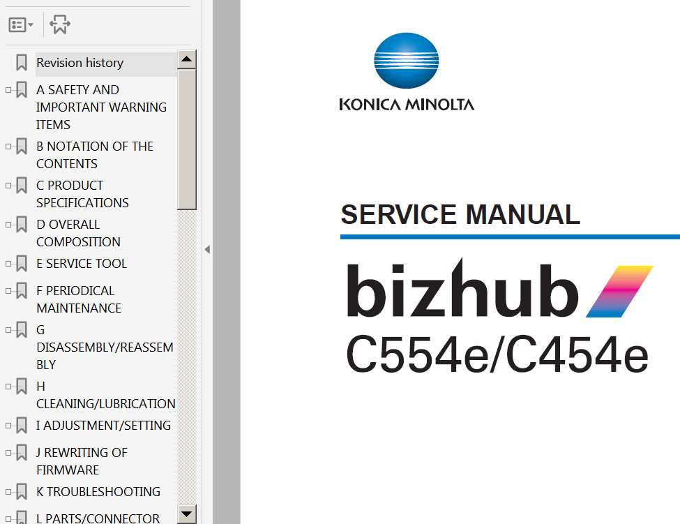 Konica Minolta service manual Bizhub