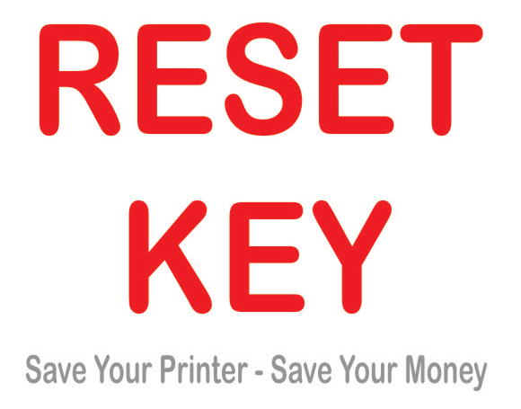 RESET KEY for PP-50, PP-50BD, PP-100 waste ink counters reset