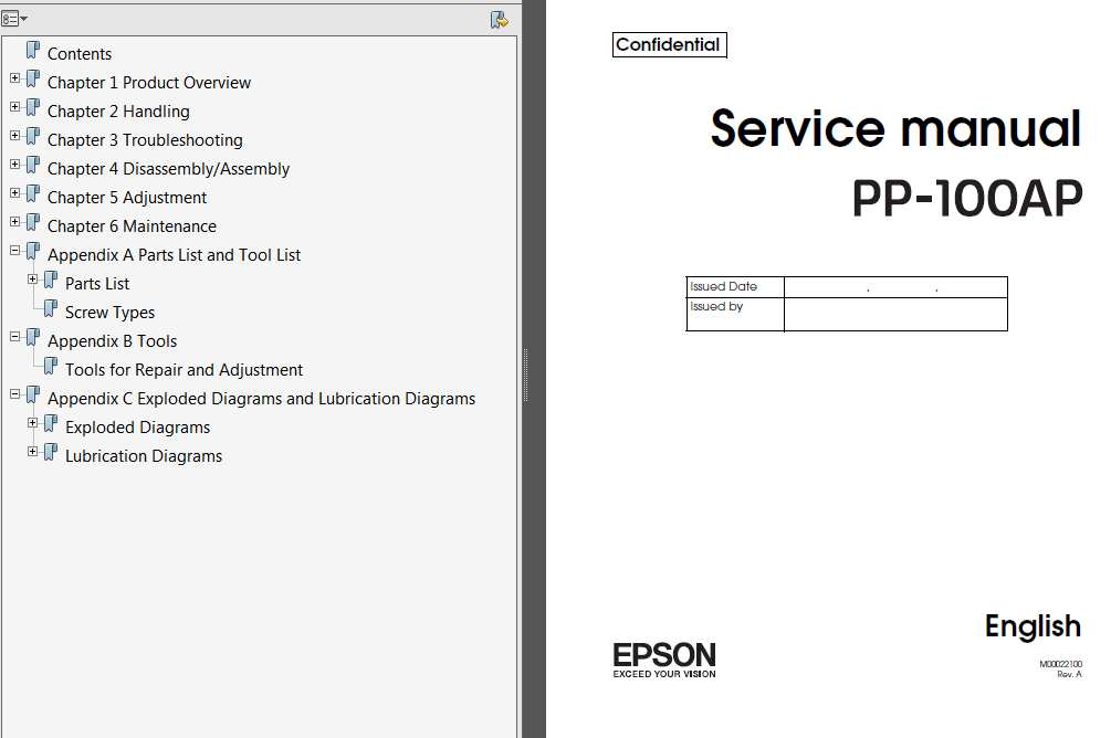 Epson <b>PP-100AP</b> DiscProducers Service Manual, Exploded Diagram and Parts List  <font color=red>New!</font>