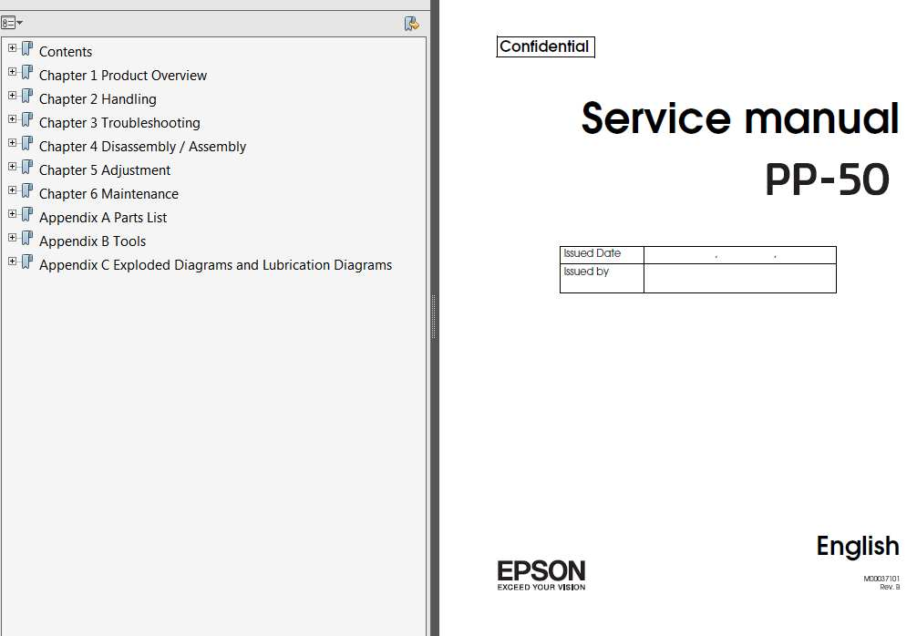 Epson <b>PP-50</b> DiscProducers Service Manual, Exploded Diagram and Parts List  <font color=red>New!</font>
