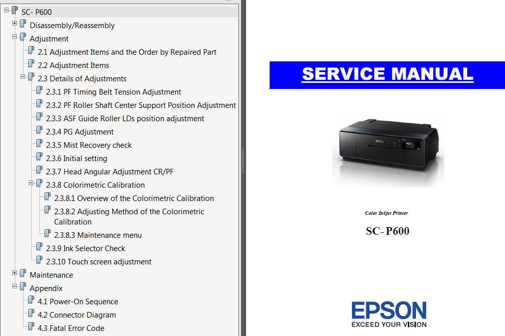<b>SC-P600 Series</b> printers Service Manual and Connector Diagram  <font color=red>New!</font>