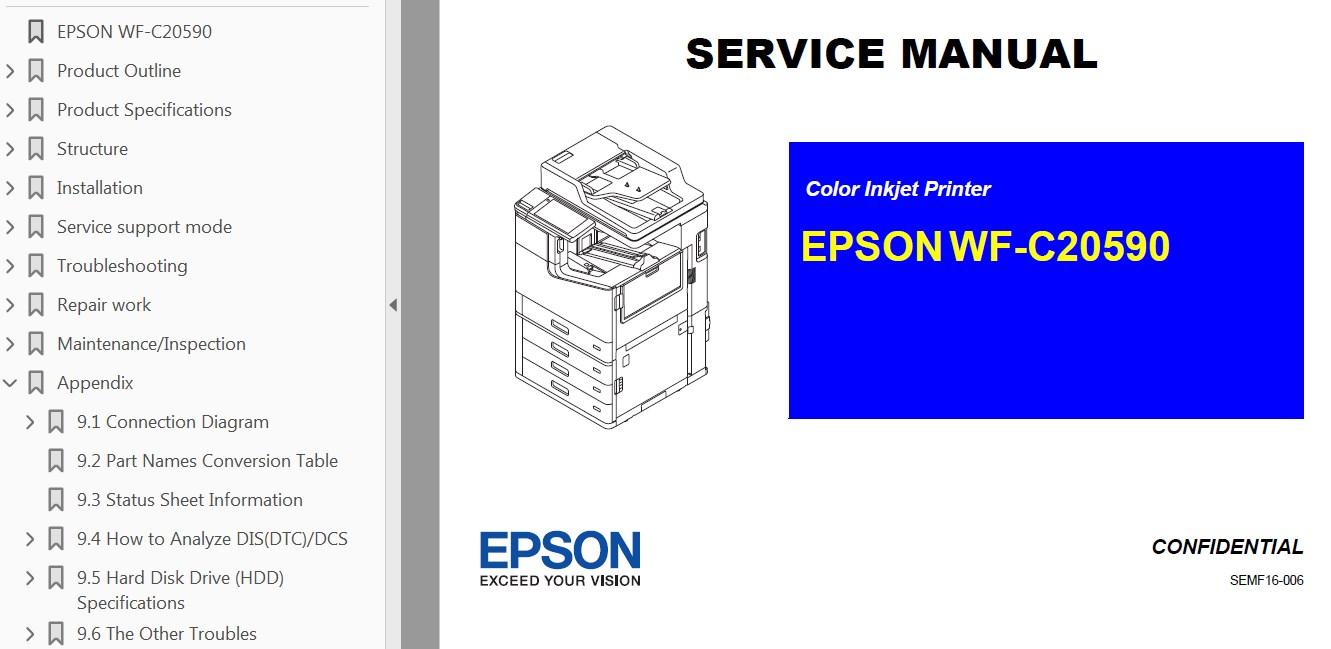 Epson <b> WF-C20590</b> printers Service Manual <font