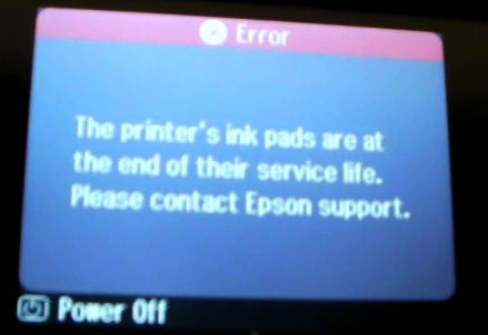Printer Error Has Occured See Your Documentation How To Fix