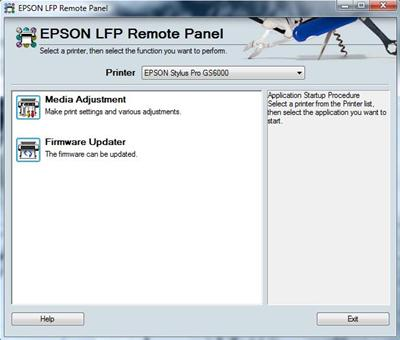 Epson Pro 7890, 9890 <b>LFP Remote Panel</b> - service tool to update wide format printers firmware and perform printer adjustments <font color=red>New!</font>