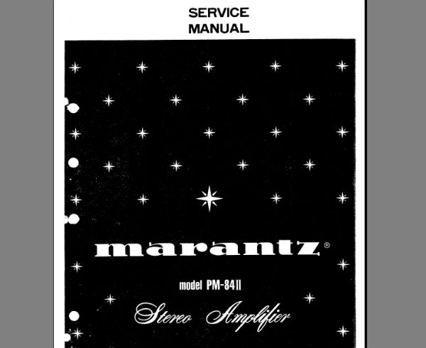 Marantz PM-84 MK2 Amplifier Service Manual, Exploded View, Parts List, Schematic Diagram, Cirquit Description